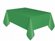 Christmas Party Ideas - Green 9 x 4.5 ft (2.74m x 1.37m) Plastic Table Cover